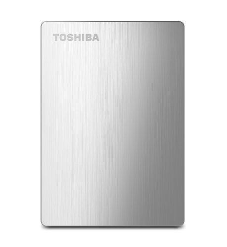 Toshiba Canvio Slim II 1TB Portable External Hard Drive, Silver (HDTD210XS3E1)