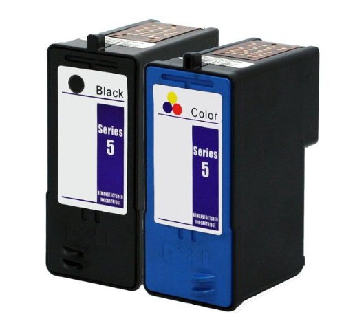 2 PK Axiom (TM) Remanufactured Ink Cartridge Replacement for Dell Series 5 Black/Color Ink Cartridge Set Combo J5566 J5567