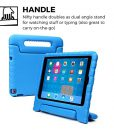 iPad 4 3 2 kids case, COOPER DYNAMO Rugged Heavy Duty Children's Boys Girls Tough Rubber Drop Proof Protective Carry Case Cover + Handle, Stand & Screen Protector for Apple iPad 2 3 4 Blue